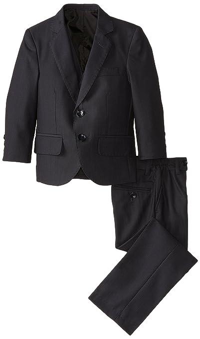 American Exchange Little Boys' Little Boy's 3 Piece Herringbone Suit, Navy, 1