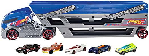 Hot Wheels Turbo Hauler Plus 20 Diecast Vehicles (Styles May Vary)