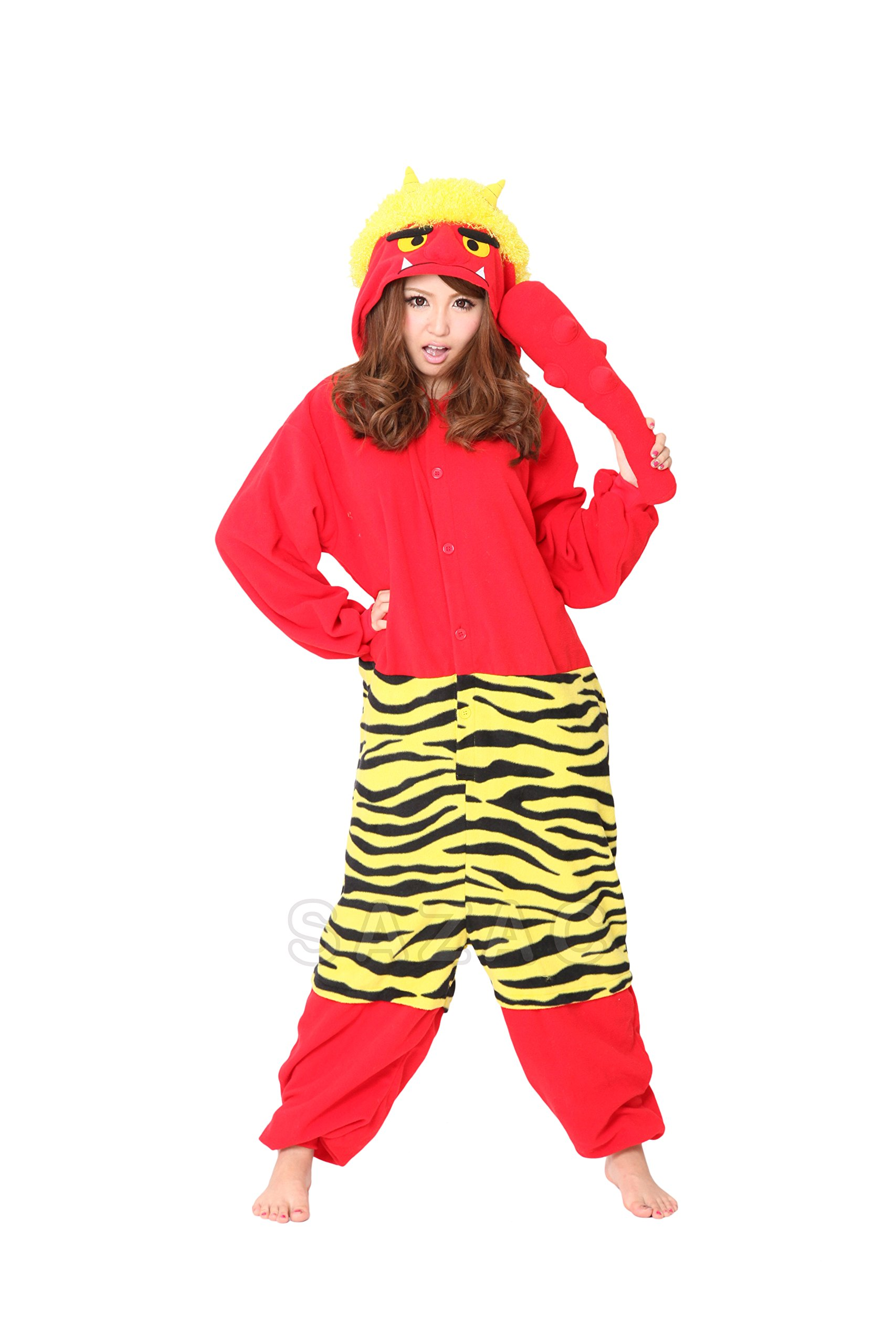 Sazac Red Demon Kigurumi - Fancy Dress Costume Pajama