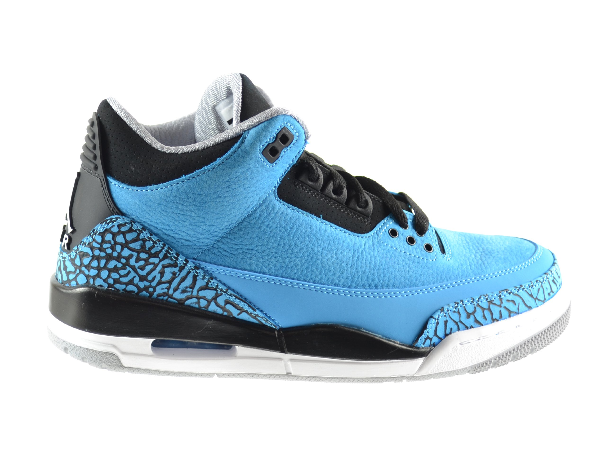 Air Jordan 3 Retro Men's Basketball Shoes Dark Powder Blue/White-Black-Wolf Grey