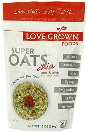 Love Grown Foods Super Oats, Nuts and Seeds, 12 Ounce