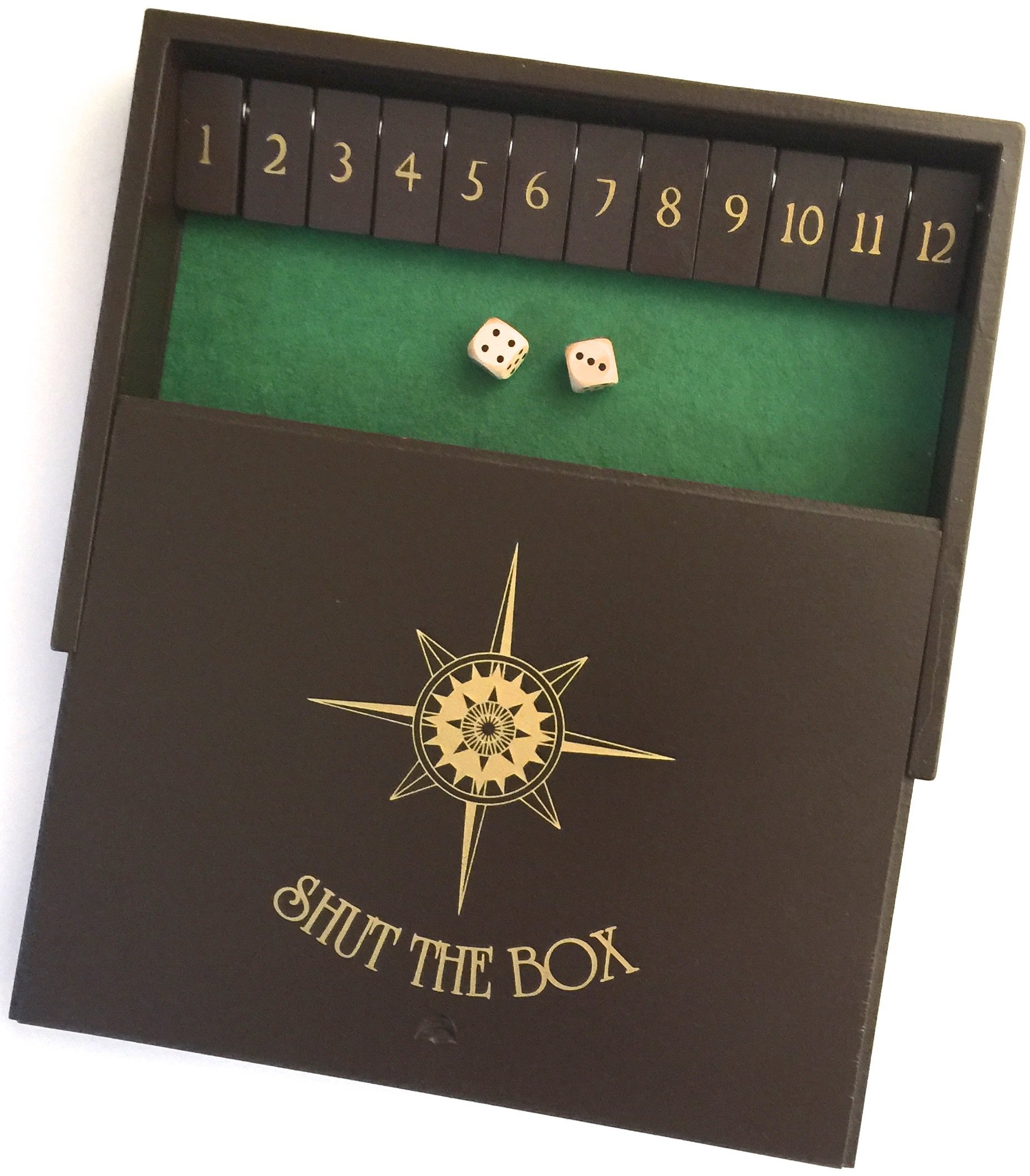 Sterling Games Wooden Shut The Box Game 12 Numbers