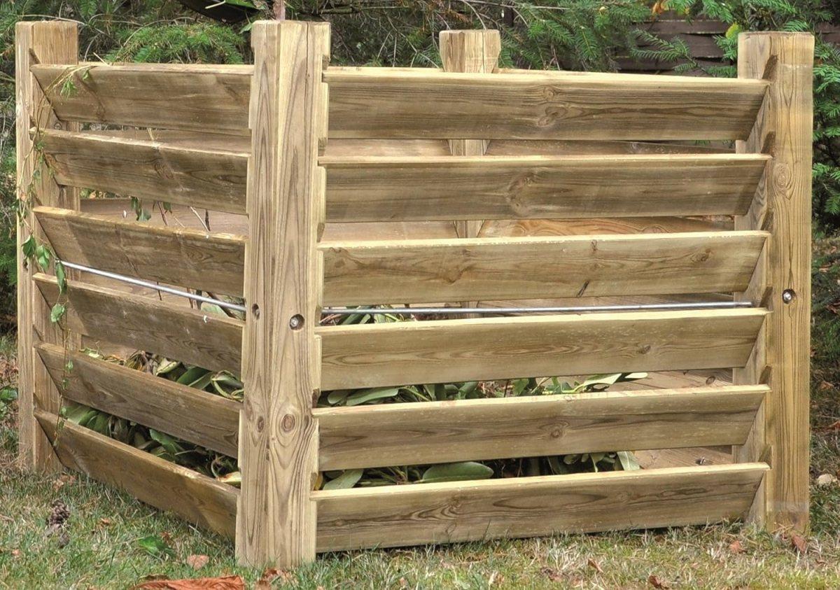 Komposter Stabil aus Holz 100 x 100 x 80 cm - ca. 800 Liter von Unbekannt