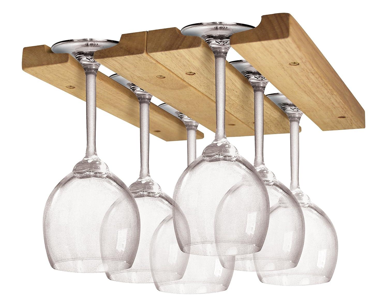 wine glass rack hanging plans