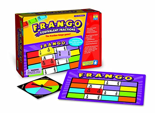 Educational Insights F-R-A-N-G-O Equivalent Fractions