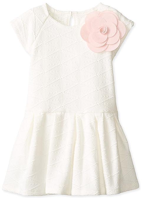 Pippa & Julie Little Girls' Textured Knit Dress, Ivory, 6X