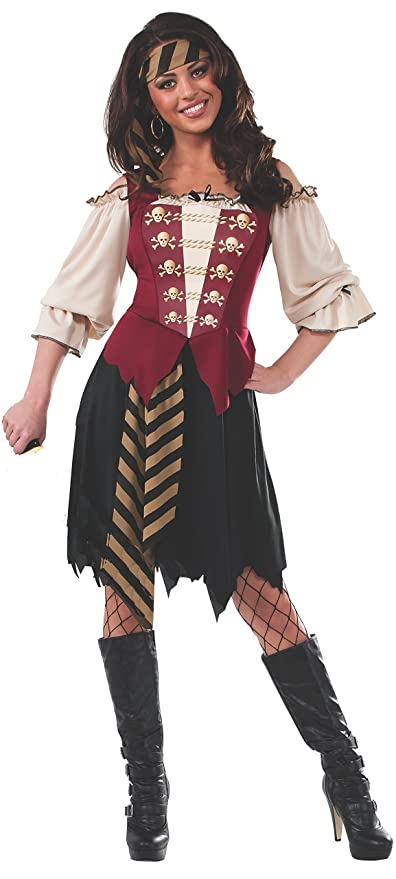 Rubie's Costume Women's Elegant Pirate Adult Costume, Multi, Standard