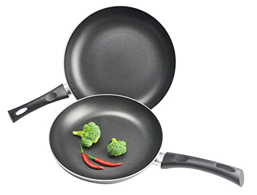 Kitchen Pro by WearEver Nonstick Fry Pans, 10 and 12-Inch, 2-Piece Set, Black