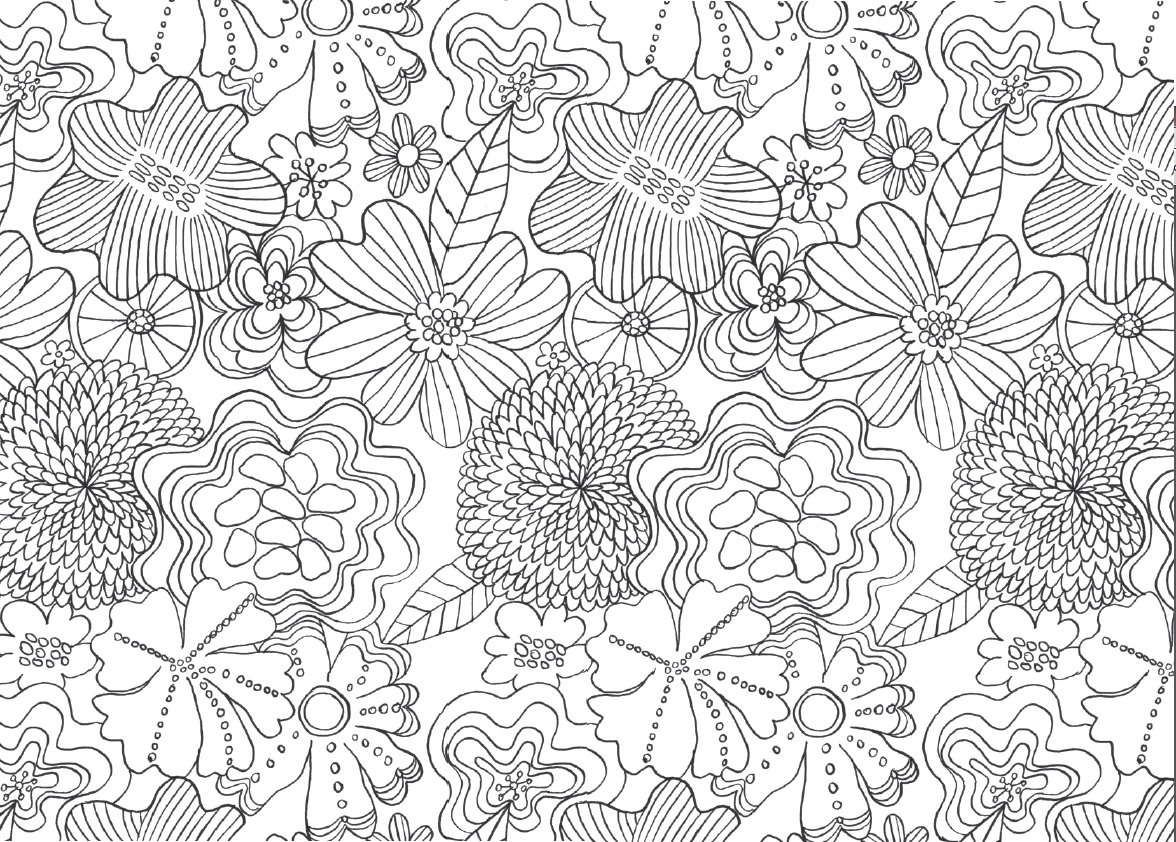 free coloring pages of flower mindfulness
