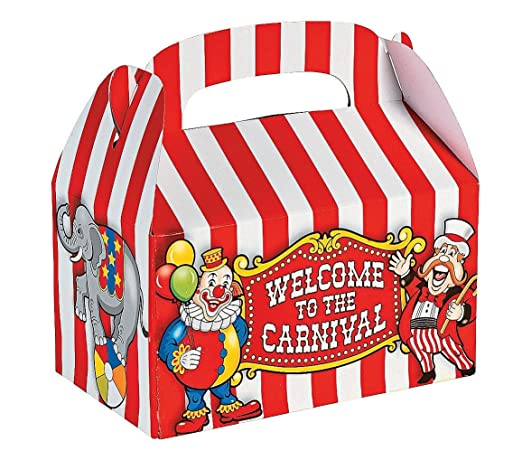 Under the Big Top Empty Favor Boxes Party Accessory
