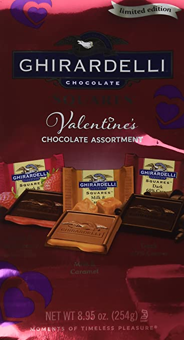 Ghirardelli Valentine's Limited Edition Squares Chocolate Assortment, 8.95 Ounce