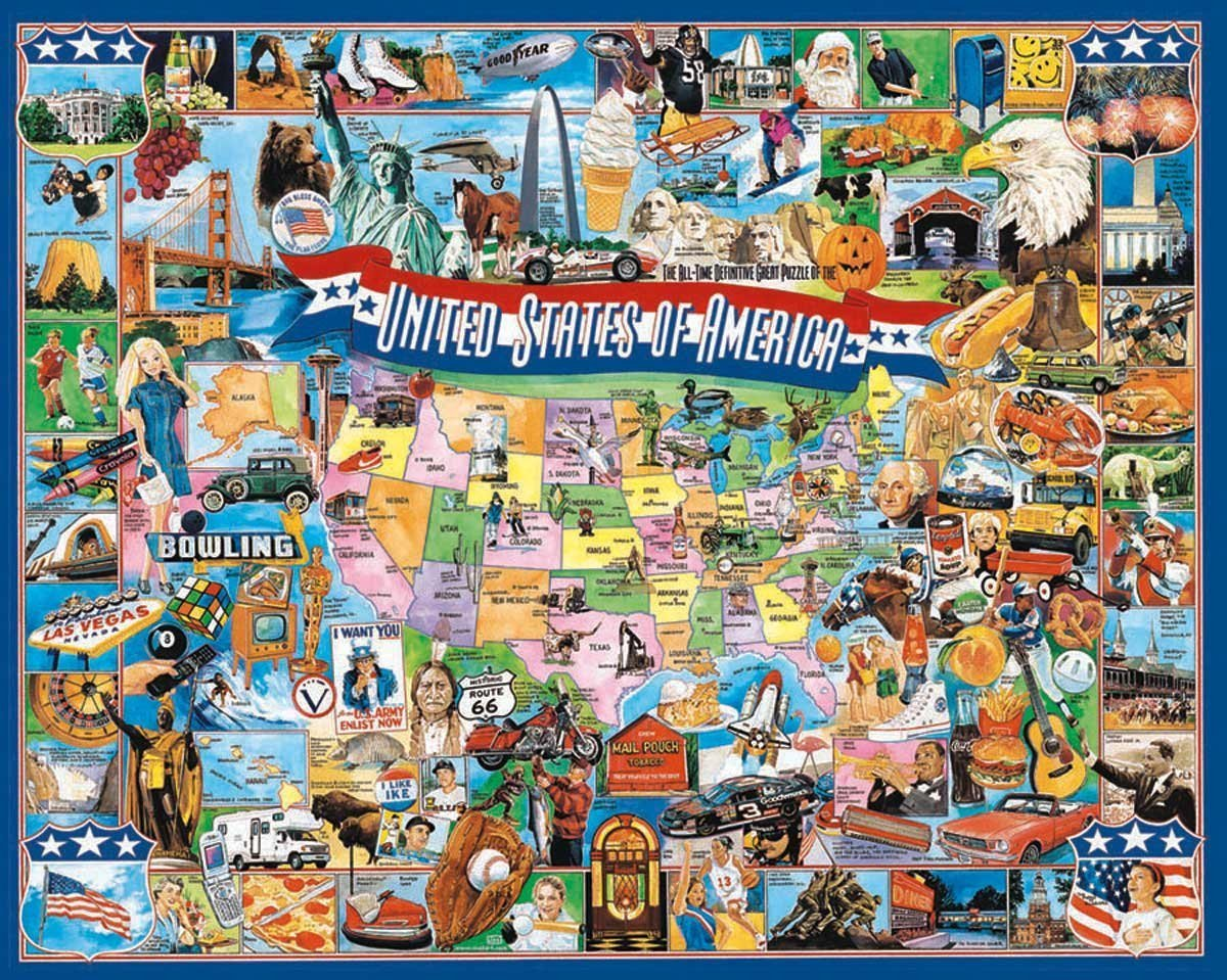 White Mountain Puzzles United States Of America