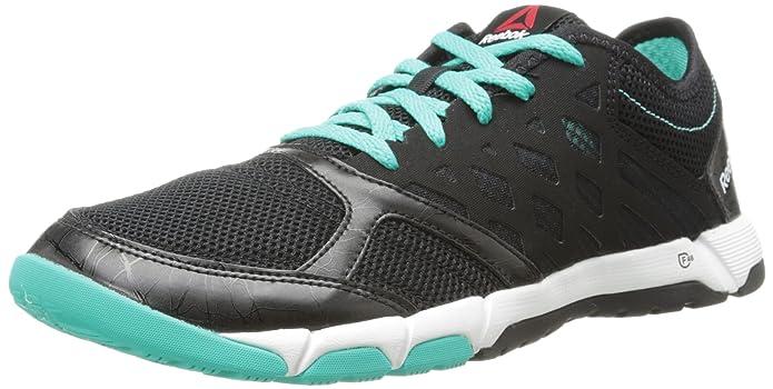 Reebok Women's One TR 2.0 Cross-Training Shoe,Black/Timeless Teal/White,9 M US