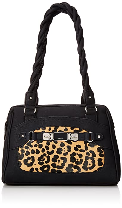 Rosetti Twist It Up Satchel Top Handle Bag, Leopard, One Size