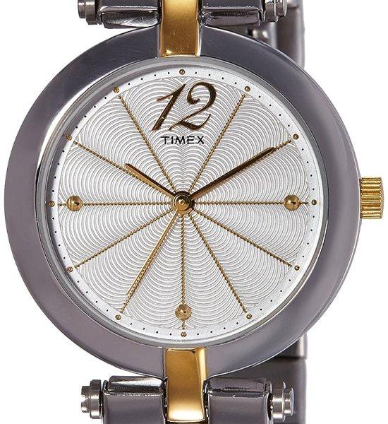 Timex Analog Silver Dial Women's Watch-TW000Z201