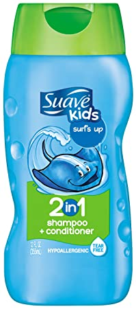 Suave Kids 2in1 Shampoo & Conditioner, Surfs Up 12-ounce Bottles (Pack of 6) (Packaging May Vary)