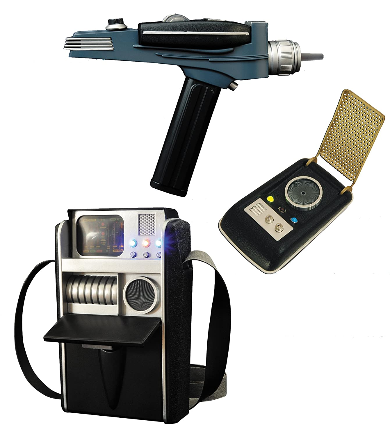 Diamond Select Toys Star Trek: Landing Party Pack (Phaser, Tricorder, and Communicator)