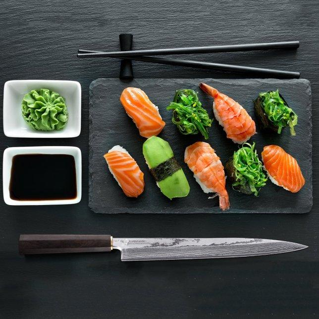 Damascus Sashimi Sushi Slicing Knife 10.5