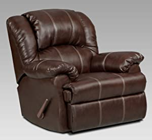 Lovely Roundhill Furniture Brandan Bonded Leather Dual Rocker Recliner Chair,  Oversize