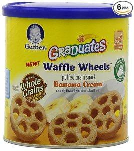 Gerber Graduates Waffle Wheels, Banana Cream, 1.48 Ounce (Pack of 6)