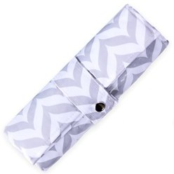 Diaper Changing Pad - Waterproof, Wipeable & Washable - Quilted Padding - GREY CHEVRON