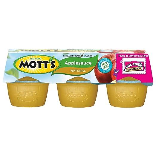 Mott's Natural Applesauce, 3.9 oz cups, 6 count