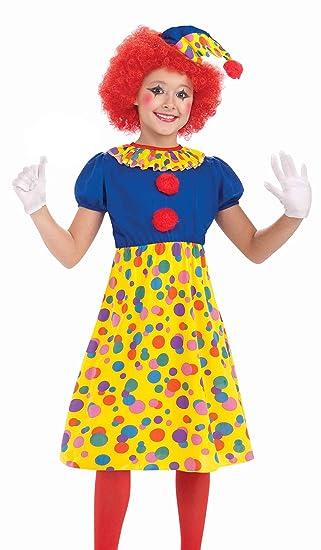 Forum Novelties Circus Clown Girl Costume, Child Small