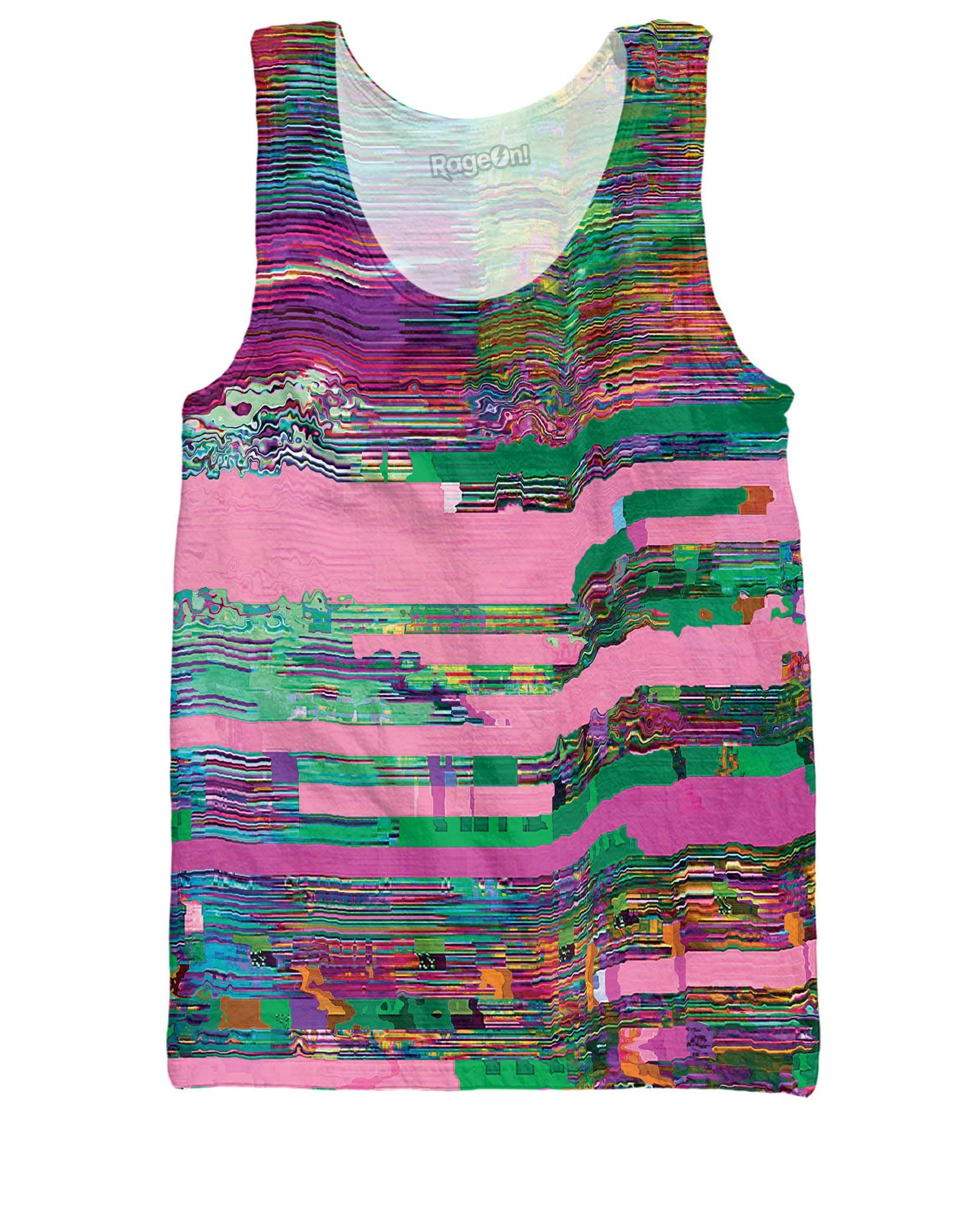 Glitch Tank Top men women graphic t