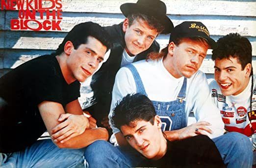"P-3332 New Kids on the Block Boy Band Music Wall Decoration Poster Size 31""x21"""