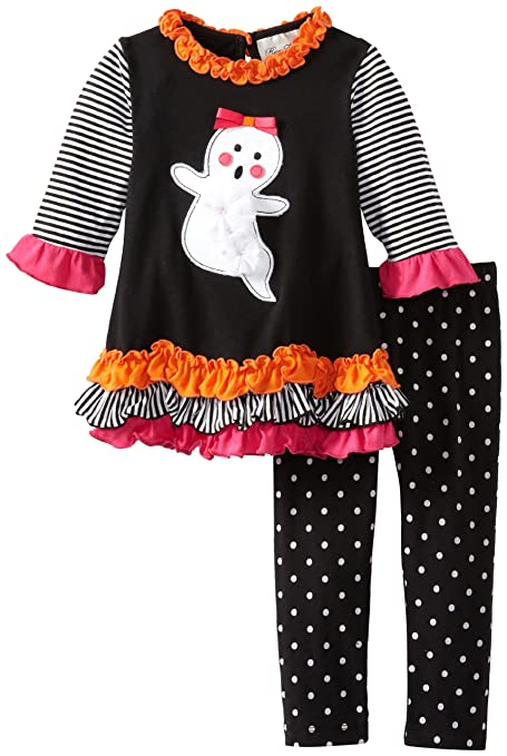 Rare Editions Little Girls' Ghost Applique Legging Set