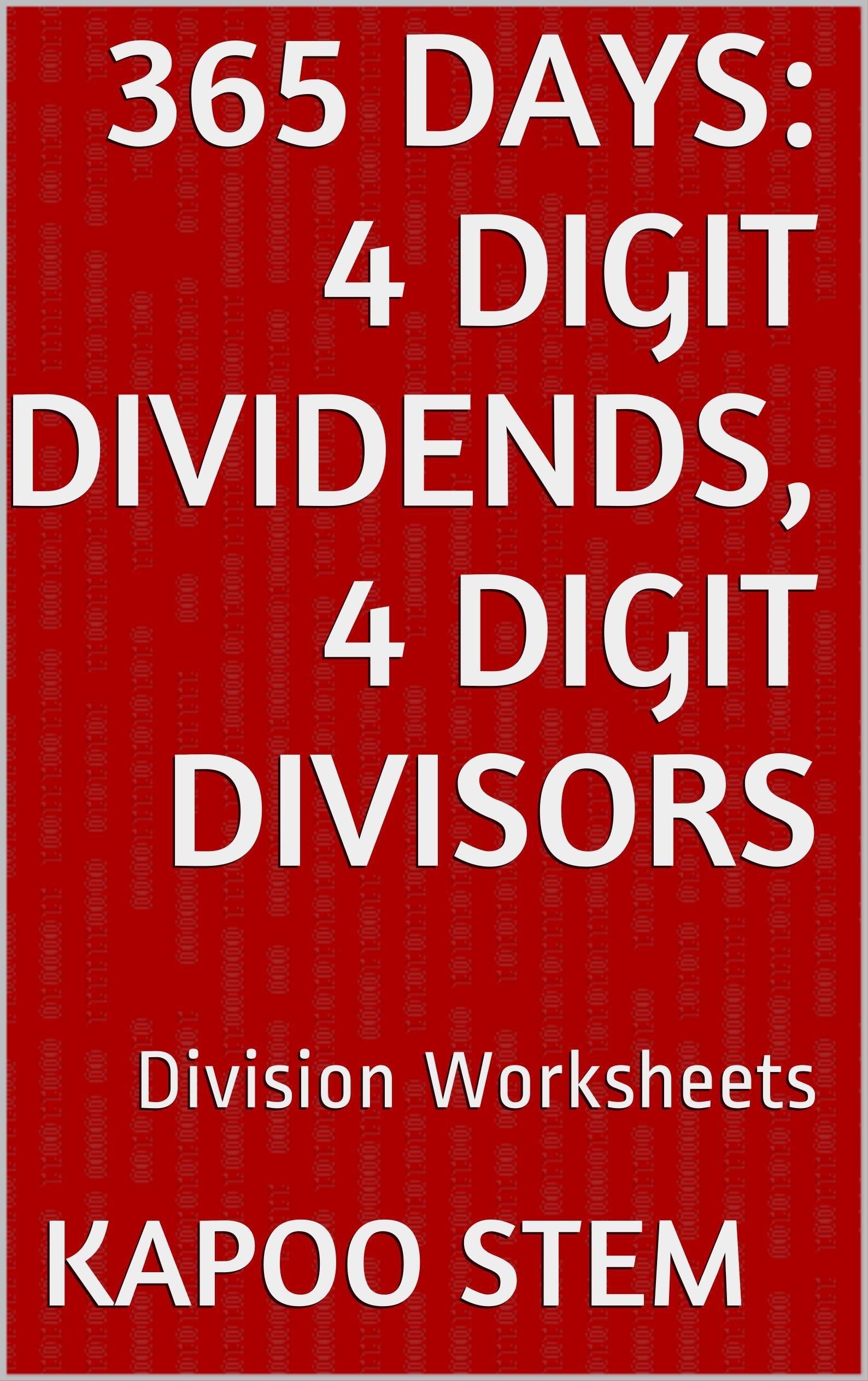 365 Division Worksheets With 4 Digit Dividends 4 Digit