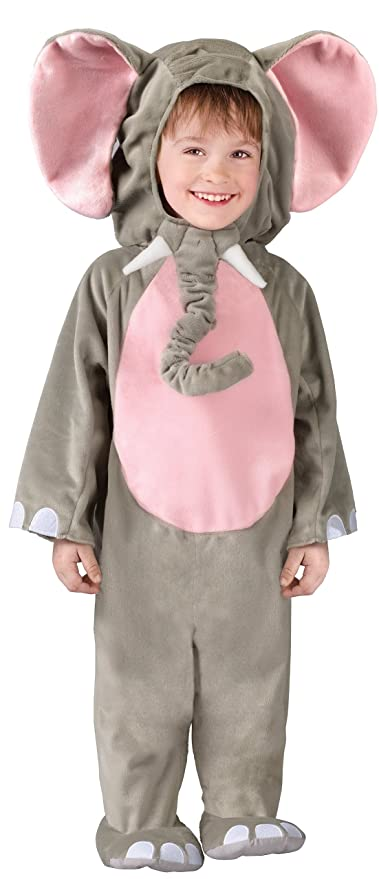 Fun World Costumes Baby's Cuddly Elephant Toddler Costume, Grey, Toddler 3T-4T