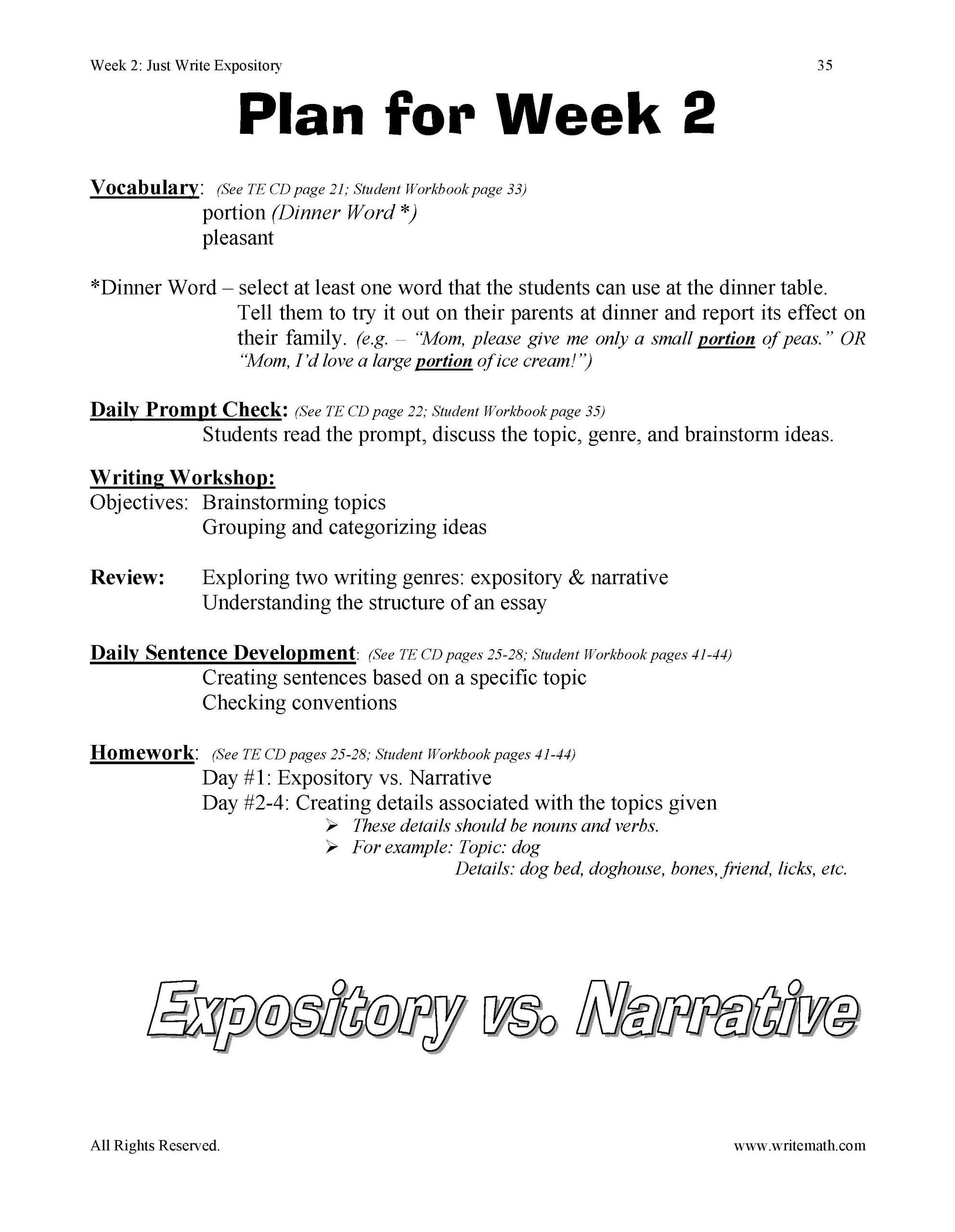 6th Grade Essay Assignments