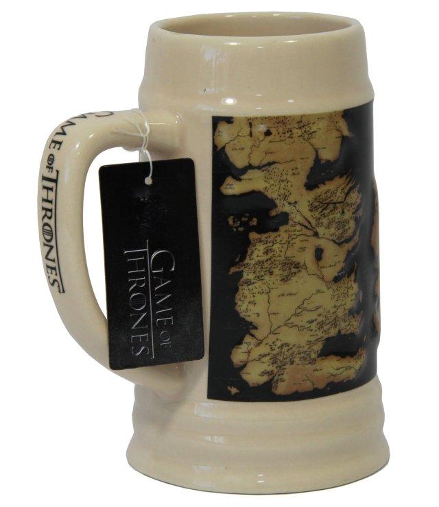 Game of Thrones 22oz Ceramic Map Beer Stein