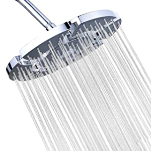 A-Flow Unique Luxury Large 10 inch Rainfall Showerhead - Expandable to 12