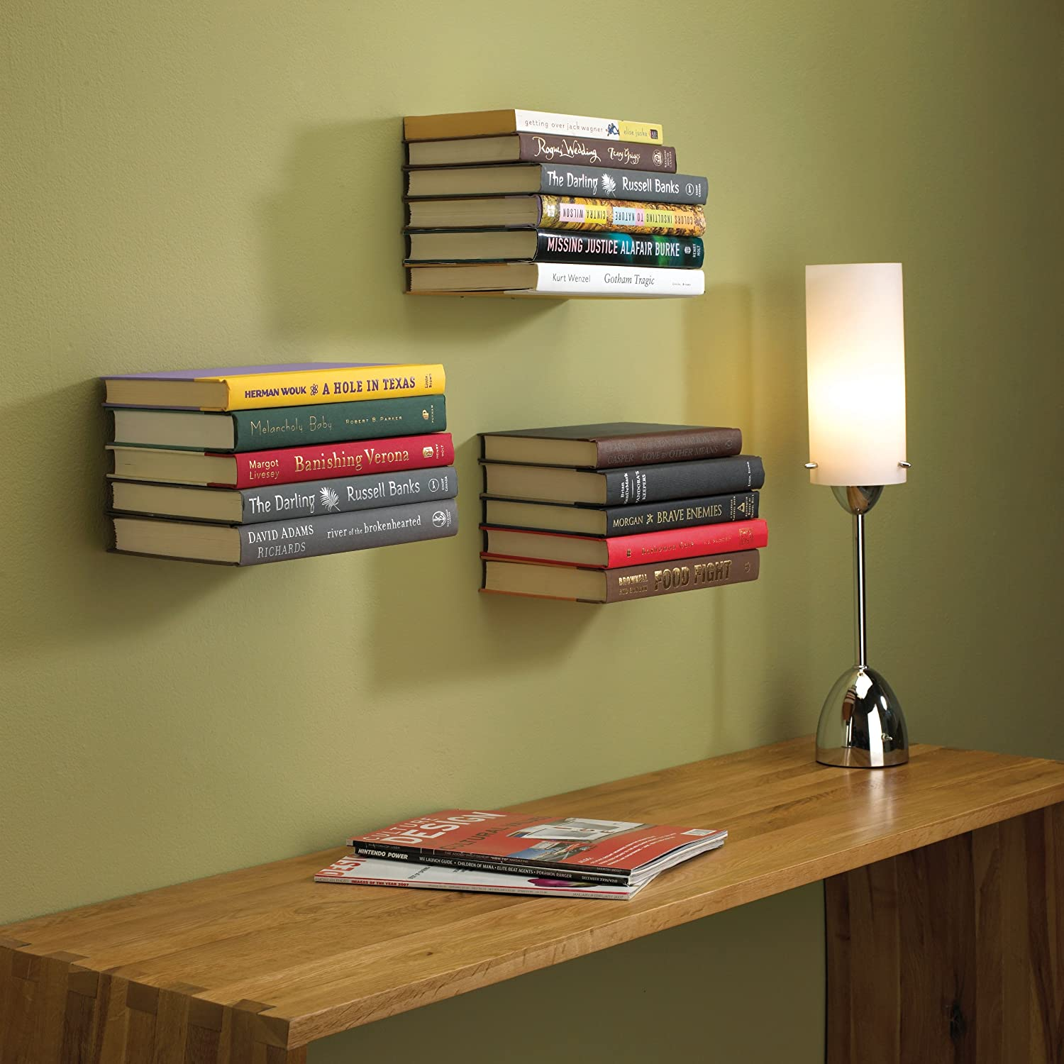 Image result for floating bookshelves