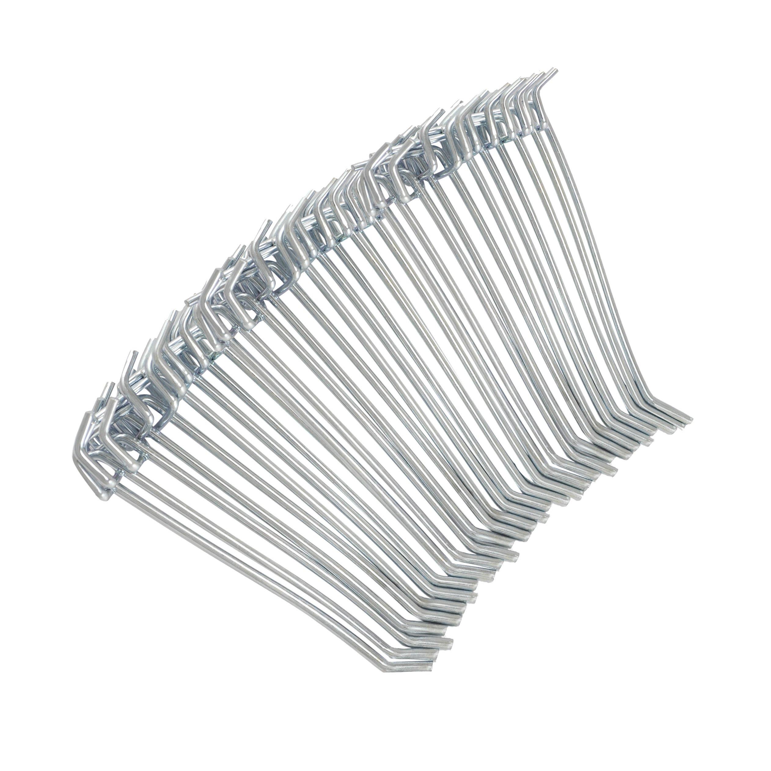 4 Metal Pegboard Hooks 50 Piece Pack Peg Hooks For 1 8 Amp 1 4 Storage Organizer