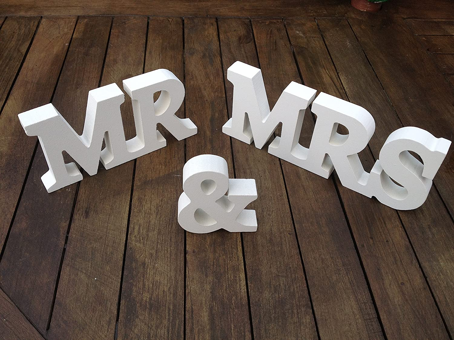 Wooden Blocks Mr Mrs Letters Wedding Decoration Party
