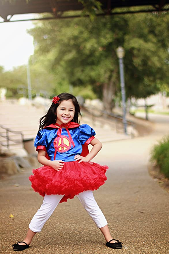 Girls Superman Costume Tutu Dresses with Cape (2 Years)