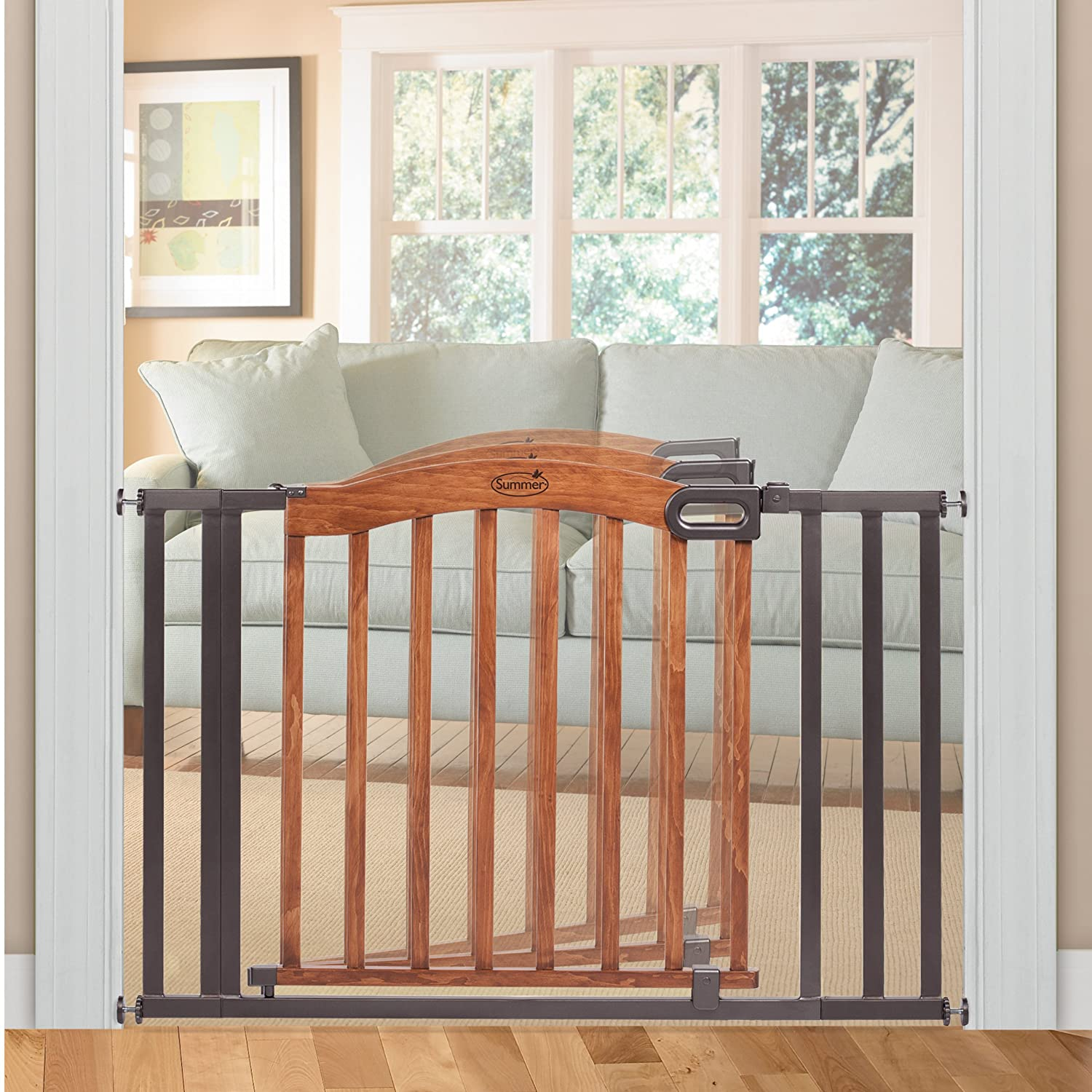 Summer Infant Wood and Metal Pressure Mounted Gate Extra Wide