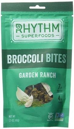 Rhythm Superfoods Broccoli Bites, Garden Ranch, 1.5 Ounce