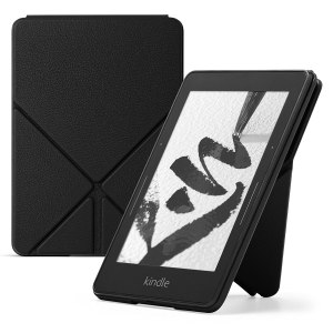 Amazon Protective Leather Cover for Kindle Voyage, Black
