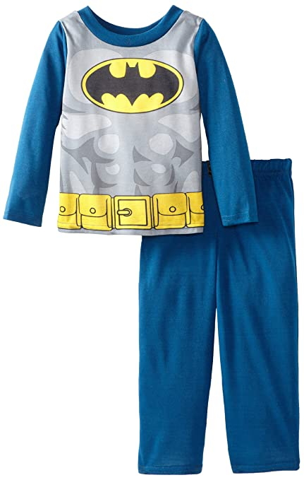 Komar Kids Big Boys' Batman Costume Sleep Set with Cape, Navy/Gray/Black, Medium (8)