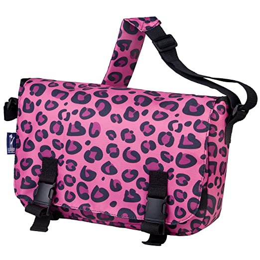 Wildkin Jumpstart Messenger Bag, Pink Leopard