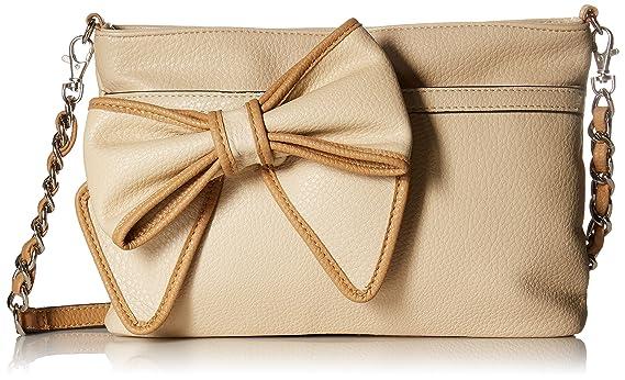 Jessica Simpson Scarlett Clutch Cross Body Bag, Beige/Latte, One Size