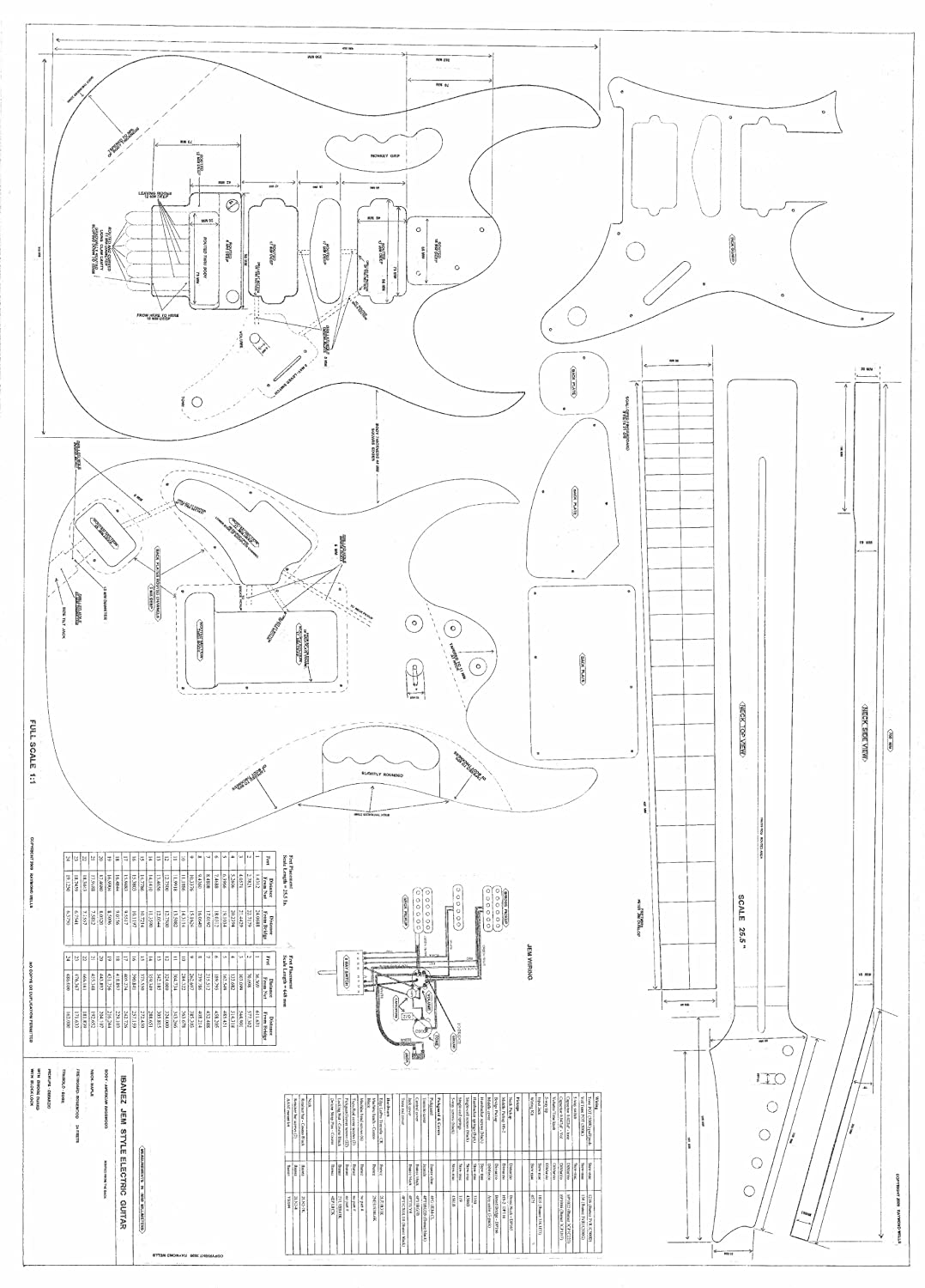 Printable Guitar Template