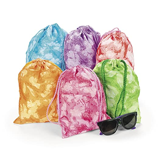 Tie-dyed Drawstring Tote Bags (1 Dz)