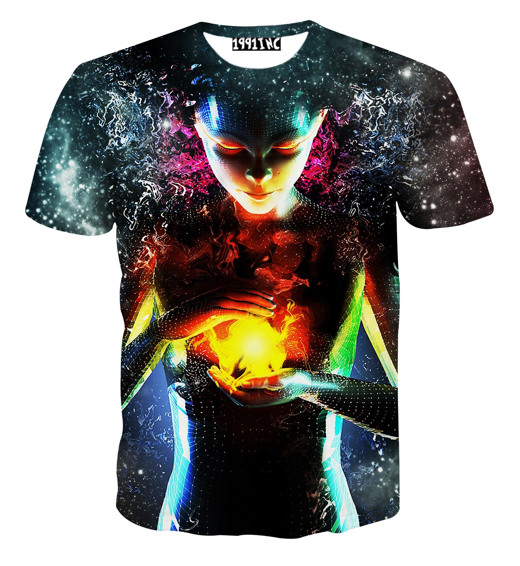 FaPlus Fashion Subject Unreal 3D Print Short-Sleeve Men's T Shirts Digital Design