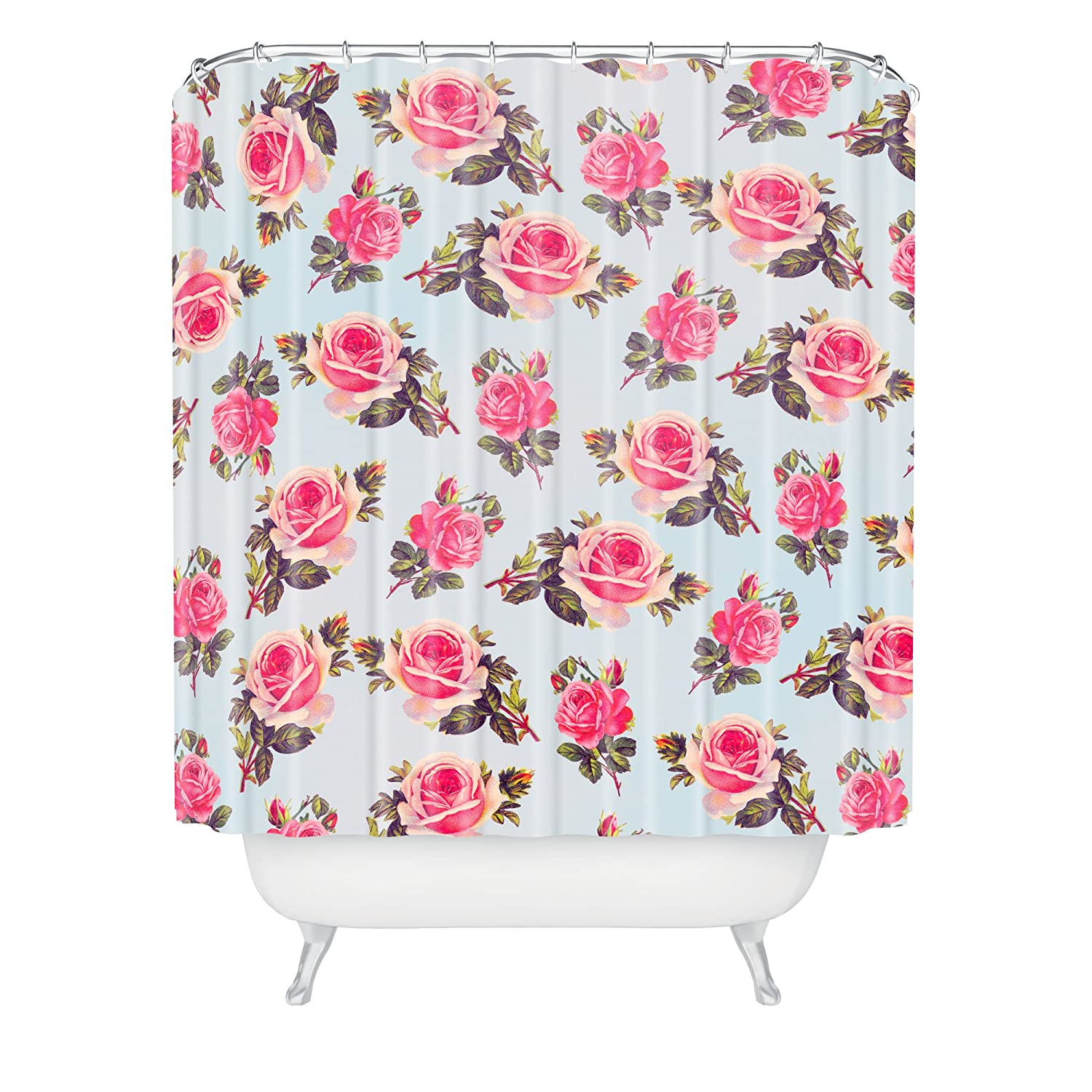 Allyson Johnson Pink Roses Shower Curtain