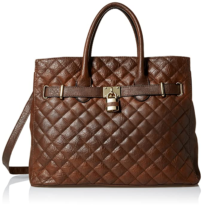 DEL MANO Status Convertible Top Handle Bag, Brown, One Size